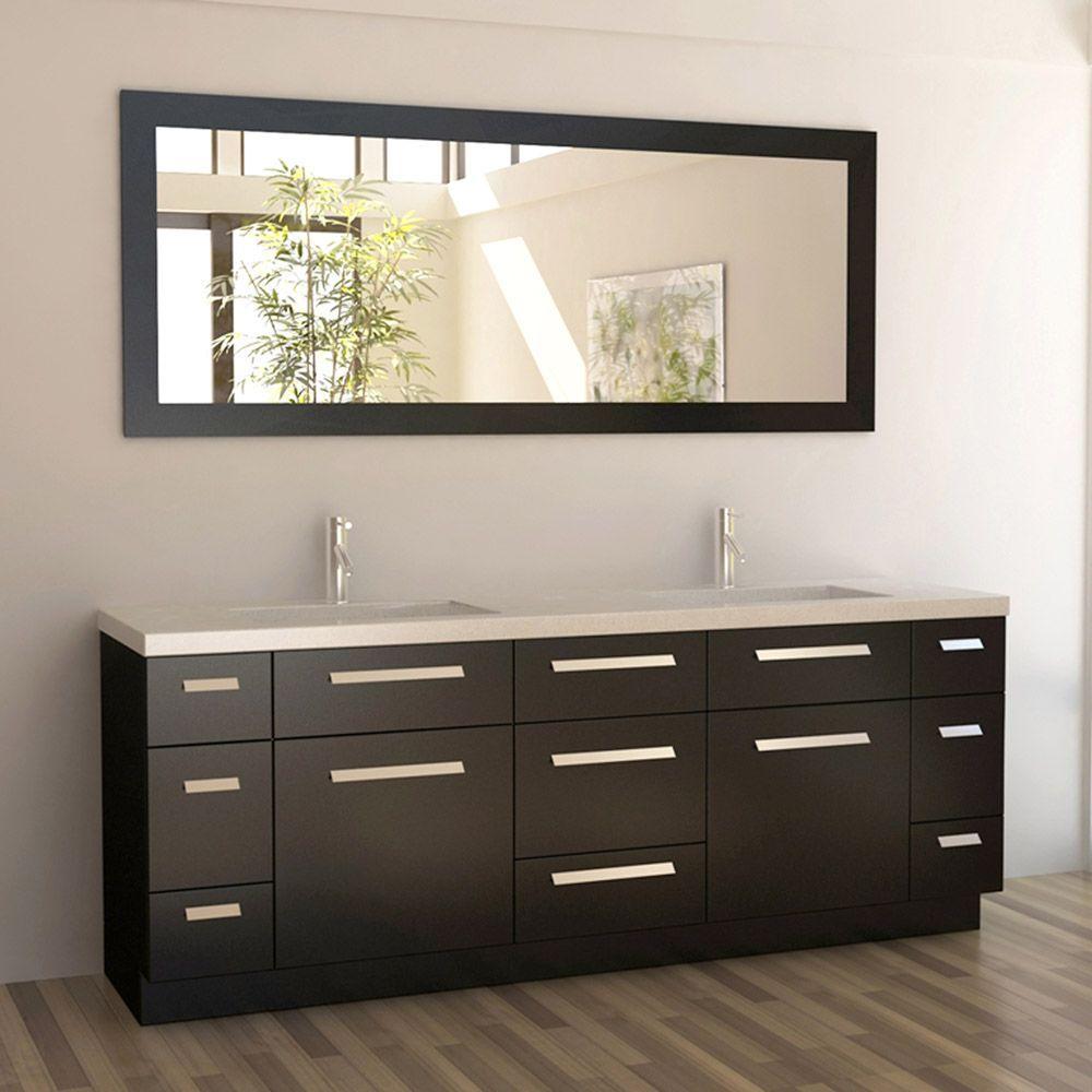 Rissa 84 Double Sink Vanity Modern Bathroom Vanity Contemporary Bathroom Vanity
