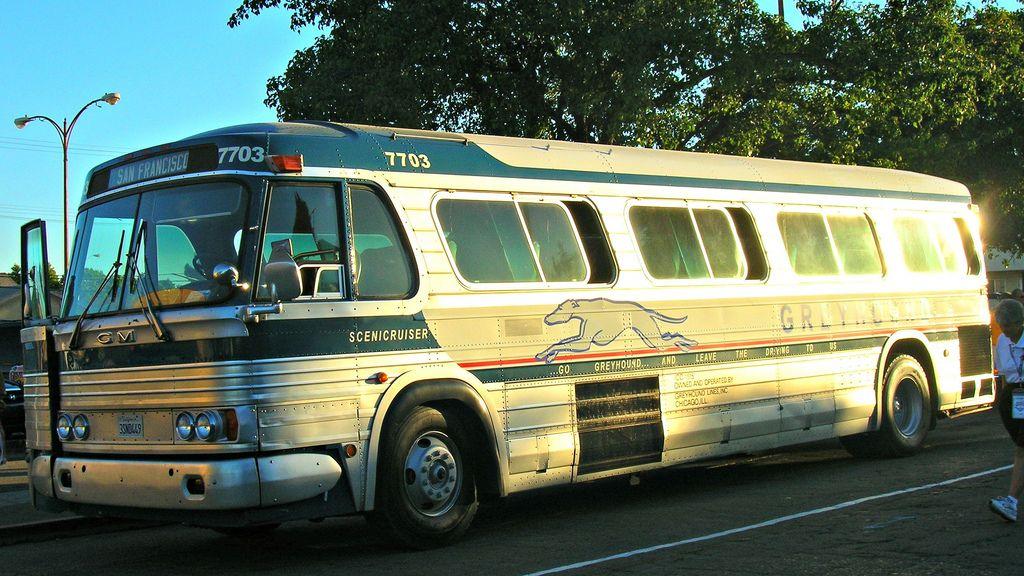 1964 Gm Pd 4106 Greyhound Bus Line 3snd449 1 Greyhound Bus
