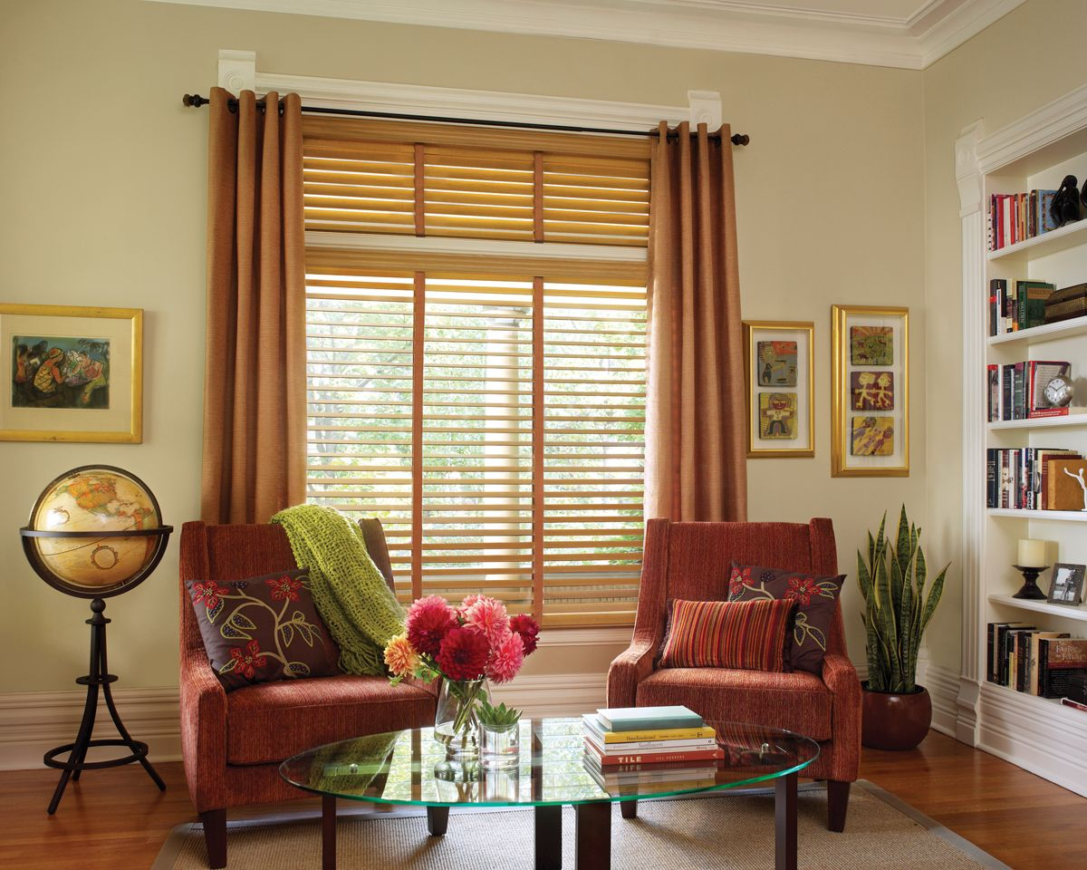 living room blinds and curtains. Hunter Douglas wood blinds  grauerspaint com The best dressed