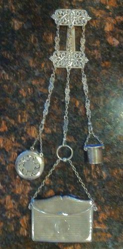 ANTIQUE VICTORIAN mappin & webb STERLING CHATELAINE thimble holder vinaigrette | eBay