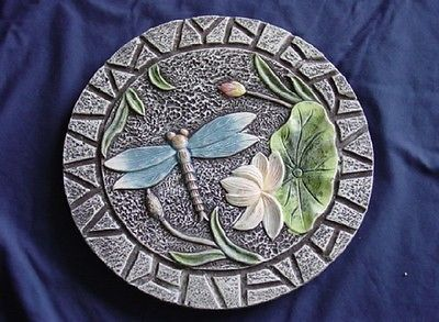 Round Dragonfly Concrete Cement Plaster Stepping Stone Mold 1106  Moldcreations