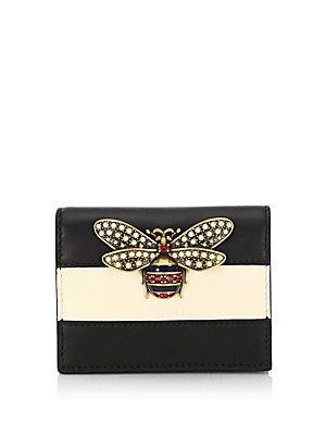 96f9bbebb2ac Gucci Queen Margaret Colorblock Leather Wallet | +Bee Items I Love ...
