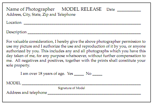 vendor images copyright release use Google Search – Photography Model Release Form