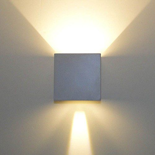 Applique murale blanche design cubic for Applique murale exterieur amazon