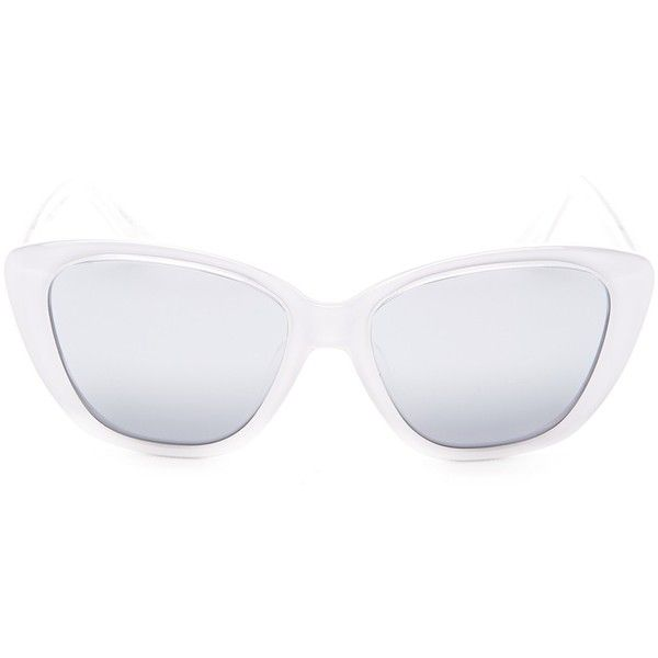 Elizabeth and James Women's Smith Sunglasses ($50) ❤ liked on Polyvore featuring accessories, eyewear, sunglasses, white, gradient sunglasses, white glasses, gradient lens sunglasses, over sized sunglasses and white plastic sunglasses