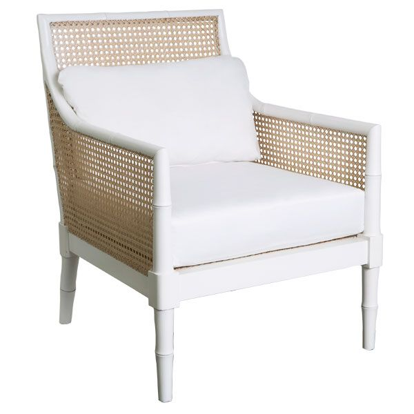 white French Colonial chair @ Wisteria