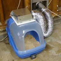 Diy Cat Litter Box Ventilation System With Images Diy Litter