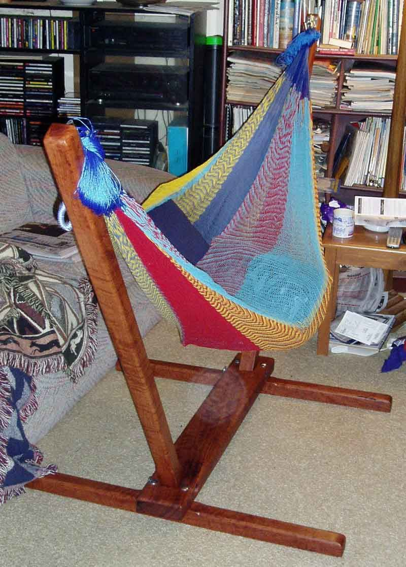 hammock chair frame diy comfy lawn chairs stand for the home pinterest backyard