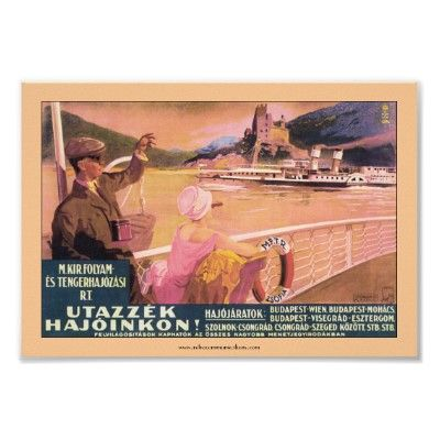 Hungarian Danube Ferry Poster | Zazzle co uk | Photos
