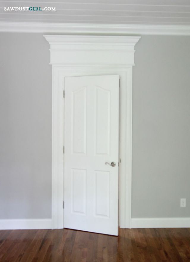 Door And Window Trim Molding With A Decorative Header Sawdust