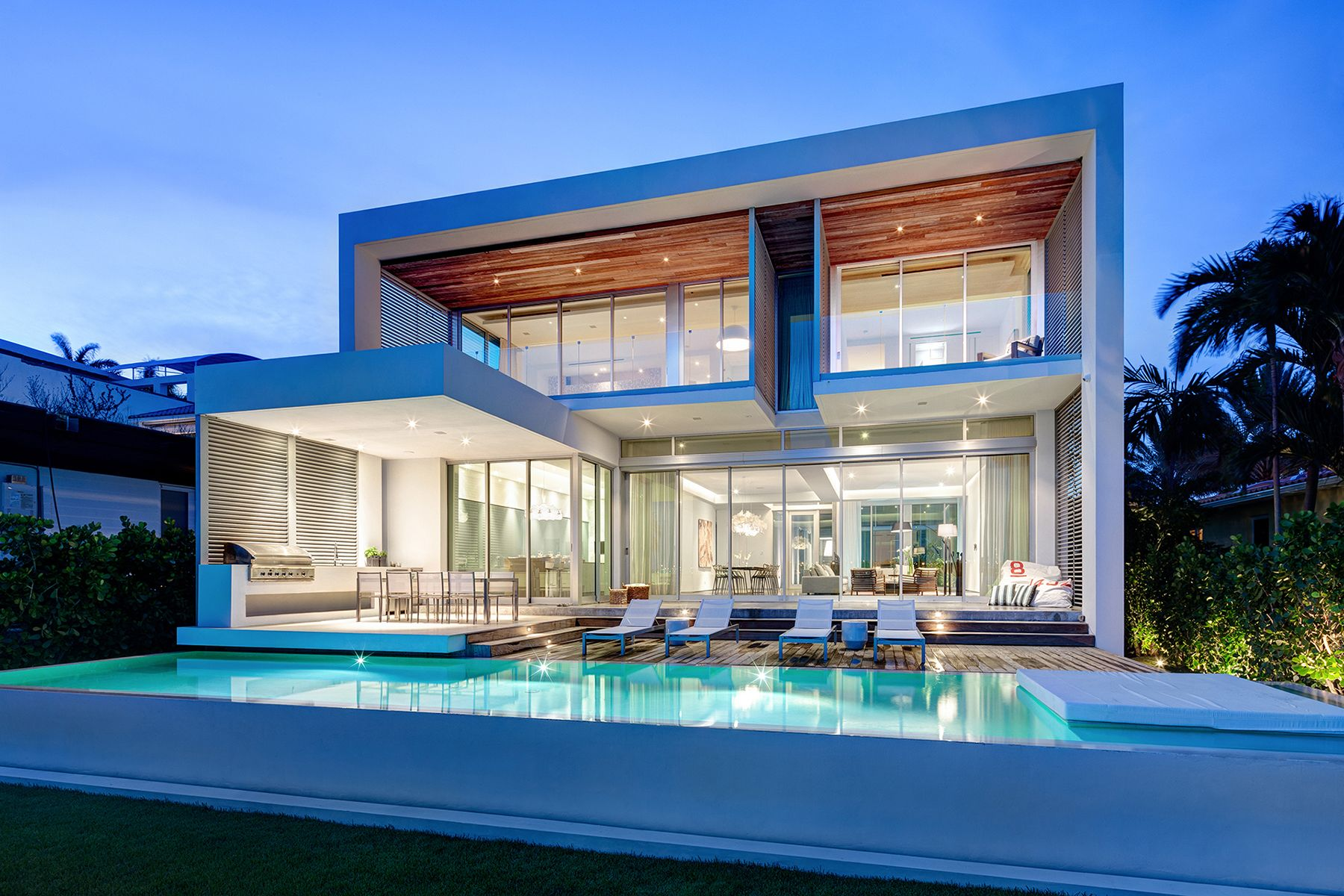 Modern Architecture Miami balanced and resilient materials in the peribere residence in