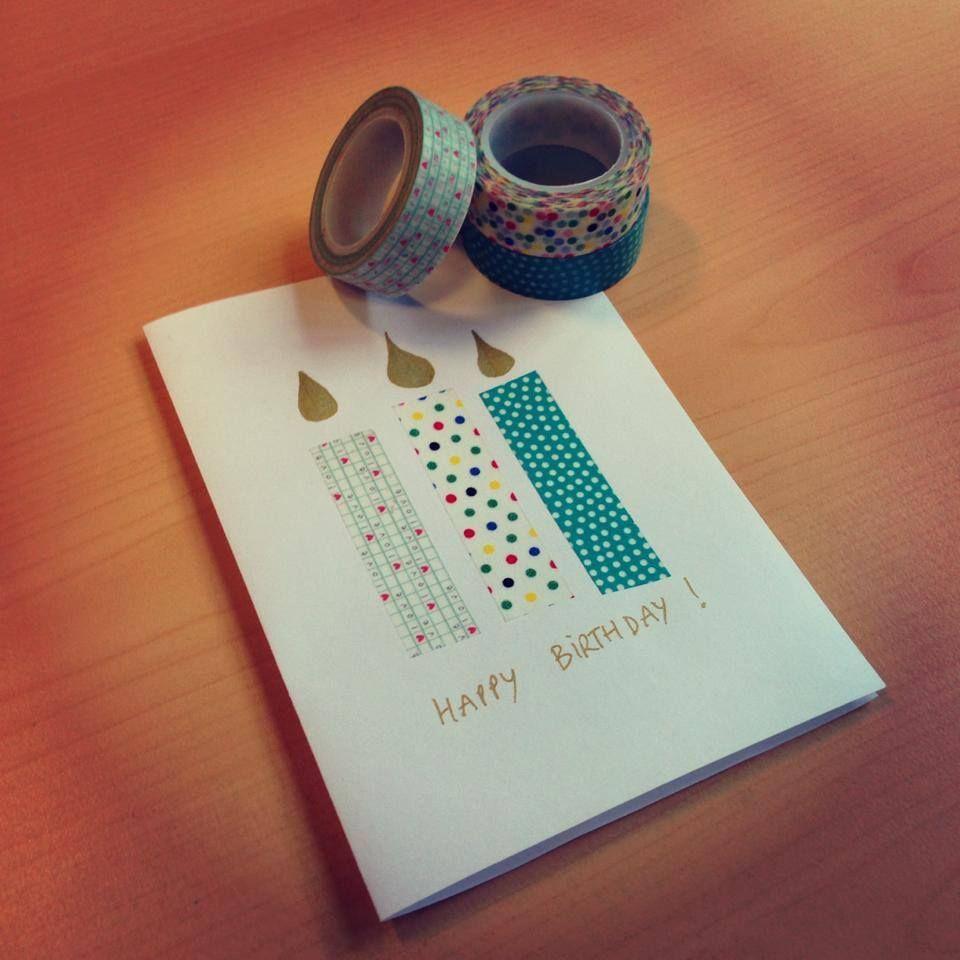 carte d 39 anniversaire r alis e avec des masking tape everyday yearly journals carte