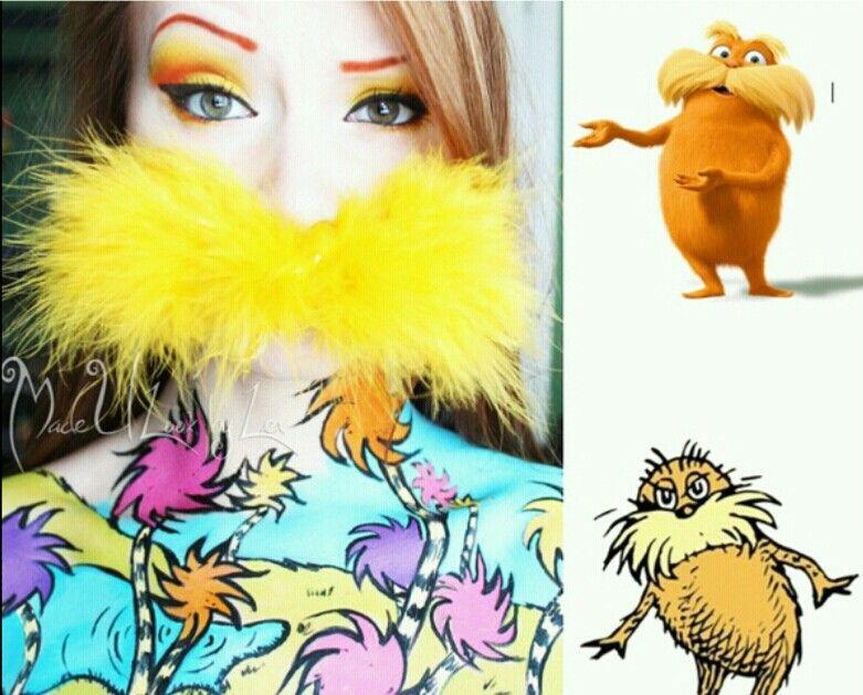 The Lorax Makeup - Avant Garde Pinterest Lorax and Makeup - dr seuss halloween costume ideas