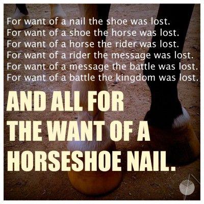Horseshoe Nail Poem Google Search Poems Horseshoe Nail Wisdom