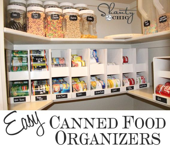 Effective Pantry Shelving Designs For Well Organized: Canned Food Storage On Pinterest