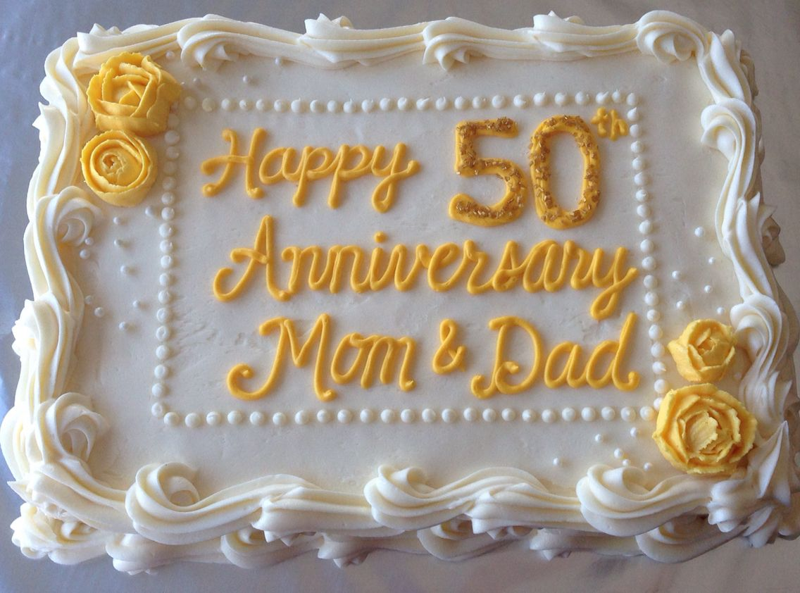 50th Anniversary Carrot Cake Cream Cheese Icing 50th