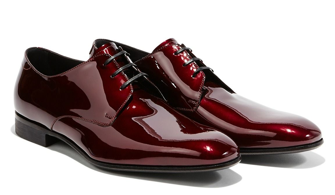 dandypunkshoes:Ferragamo Ruby red patent derby evening shoes. More than mere shoes, they are symbols of civilisation via:
