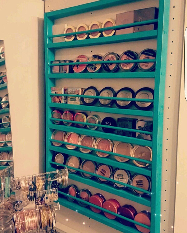 My DIY homemade makeup storage racks! The acrylic ones are crazy ...