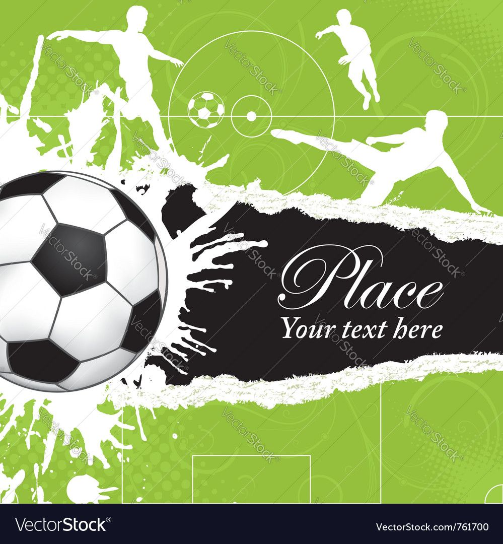 Soccer Background Royalty Free Vector Image Vectorstock