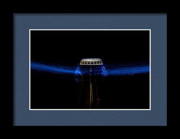 Beer Bottle Framed Print featuring the photograph Telekinesis by Marnie Patchett