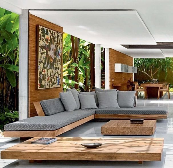Living Room Modern Wood Interior Design