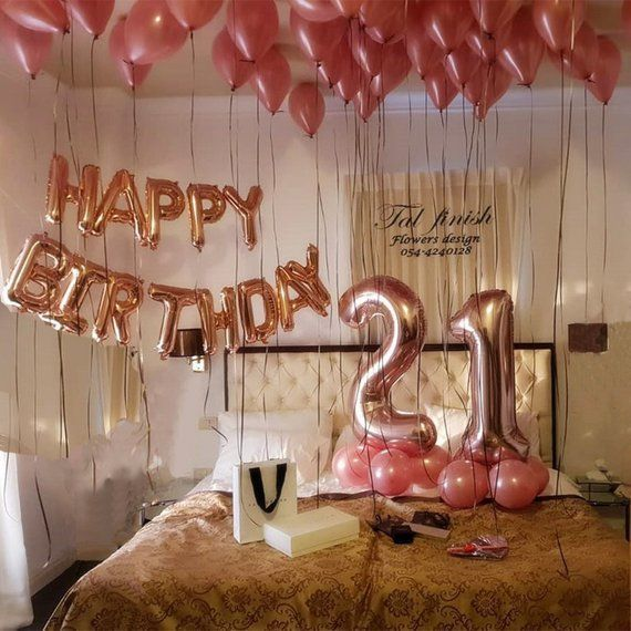 Rose Gold 21st Birthday Balloon Decor for girls | 21st birthday ideas | 21st birthday gift ideas | Birthday decor for girls| Giant Balloon #21stbirthdaydecorations