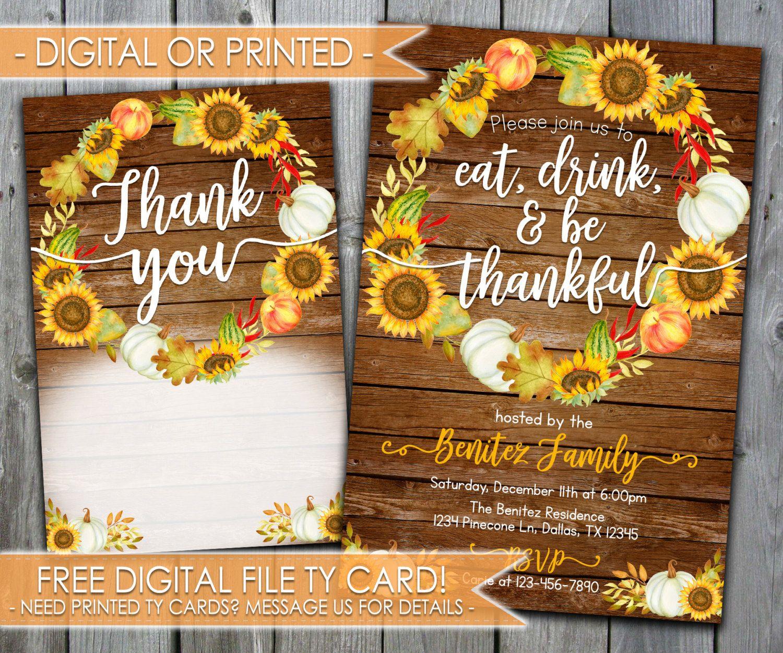thanksgiving dinner invitation thanksgiving invitation eat drink