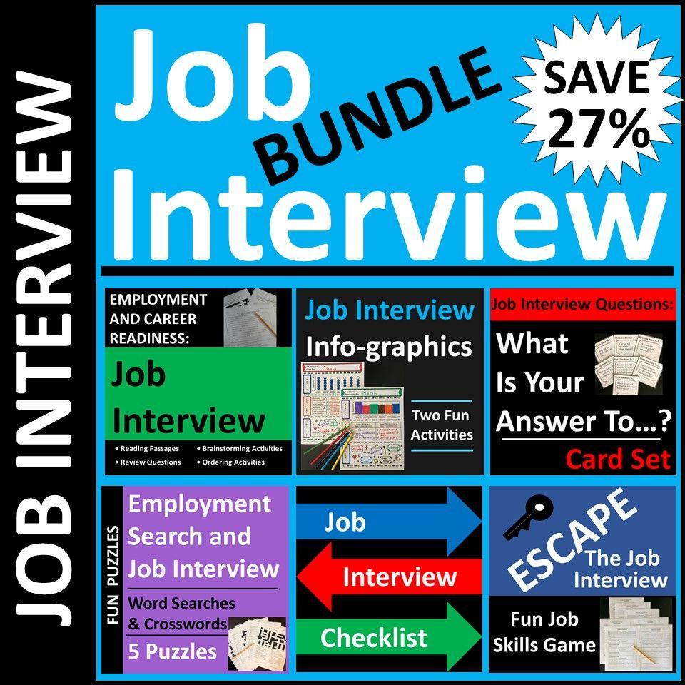 Job Interview Skills Activities For Cte Or High School Students In 2021 Job Interview Job Interview Questions Interview Skills
