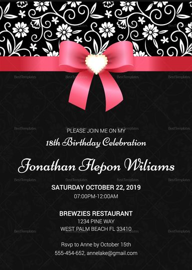 Classic Debut Invitation Card Template Debut Invitation Invitation Card Sample Invitation Cards