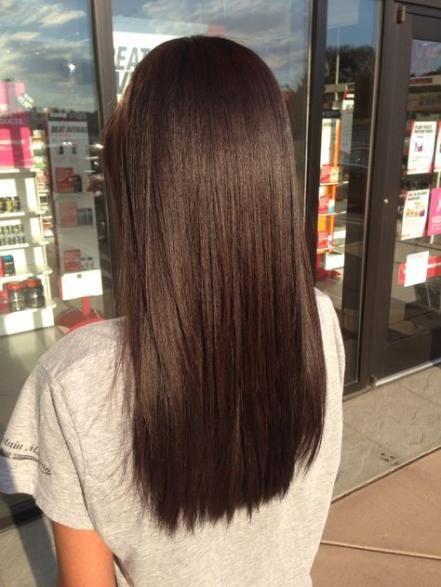 Hair Dark Brown Medium Length Colour 35 Ideas Haircuts Straight Hair Brown Hair Dye Brown Straight Hair