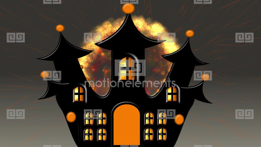Castle Explosion At Halloween Price E9 80 Category Stock Animation Code