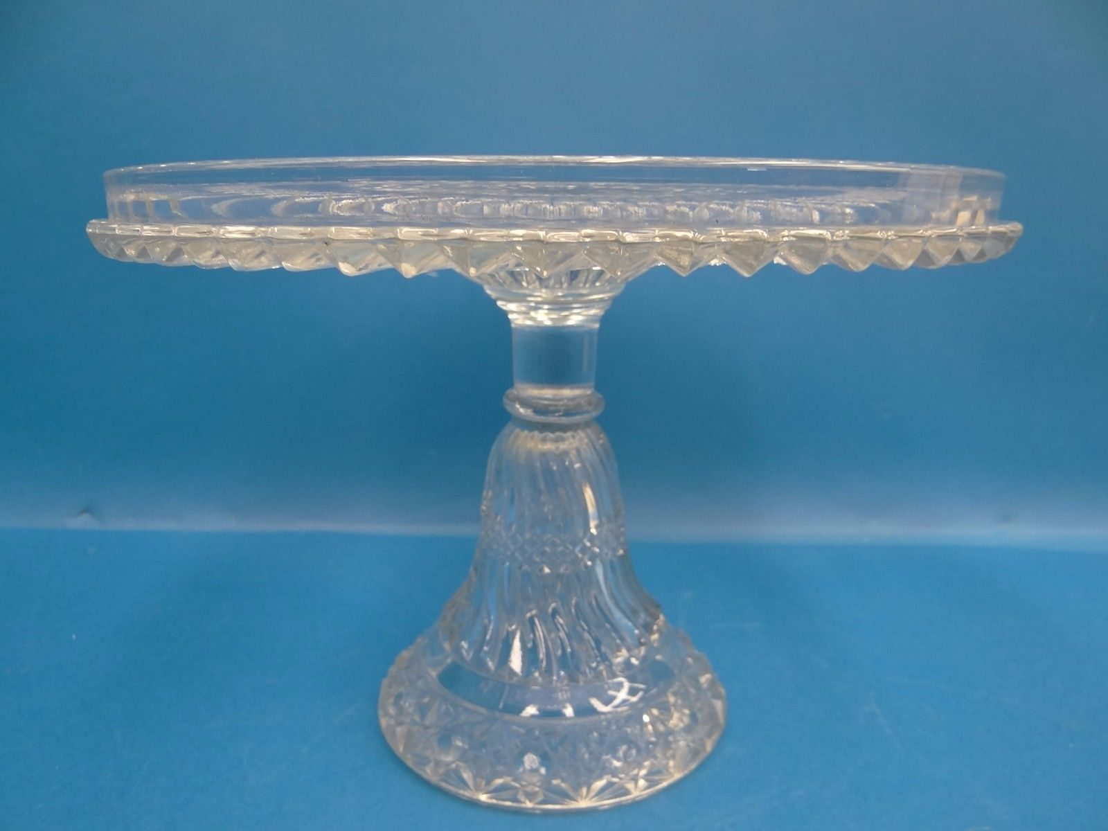 "EAPG ""Jersey Swirl"" Cake Stand made by Windsor Glass Company circa 1886,10.5"" x 7.5"", 6/1/16"