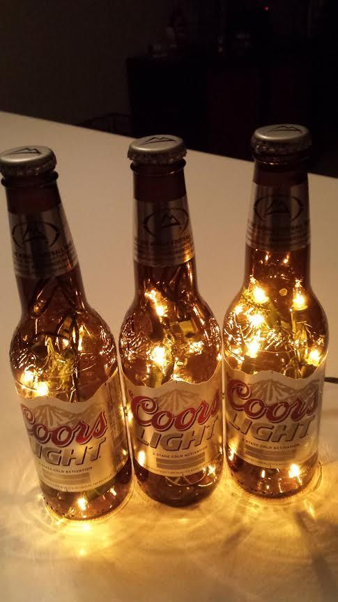 Coors Light 3 Pack Beer Bottle Light White Lights Beer Bottle Lights Coors Light Beer Bottle