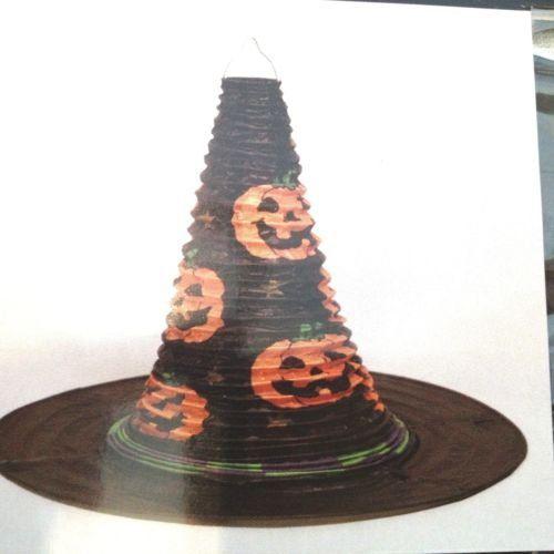 Halloween Witch Hat Paper Party Lantern Jack o Lanterns 10 t x 12 w Blk NIP *** Visit the image link more details.