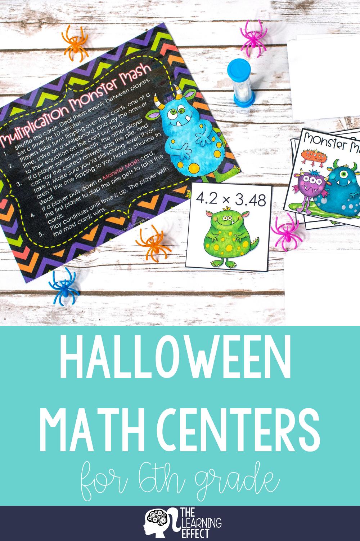 Halloween Math Centers for 6th Grade | Halloween math ...