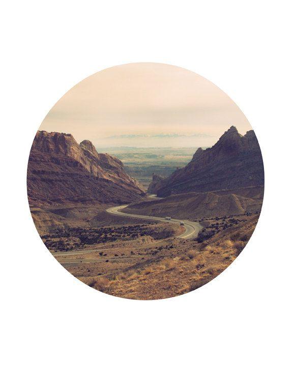 "Southwest Desert Circular Format Photo 8""x10"" Print by Calamari Studio."