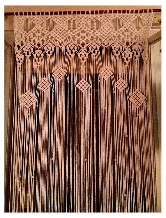 lieferzeit 3 4 wochen gro en makramee vorhang mit 3 mm baumwollschnur gemacht farbe wei. Black Bedroom Furniture Sets. Home Design Ideas