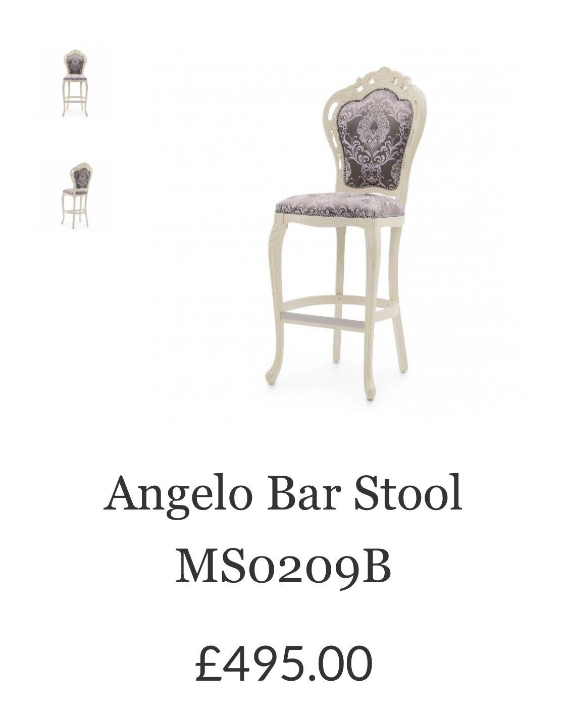 angelo bespoke upholstered bar stool ms0209b custom made