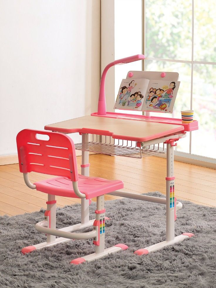 Kids Desk Chair Height Adjustable Children Study Desk Childrens Table And Chairs Ergonomic Design Kids Desk Chair Kid Room Style Kids Desk