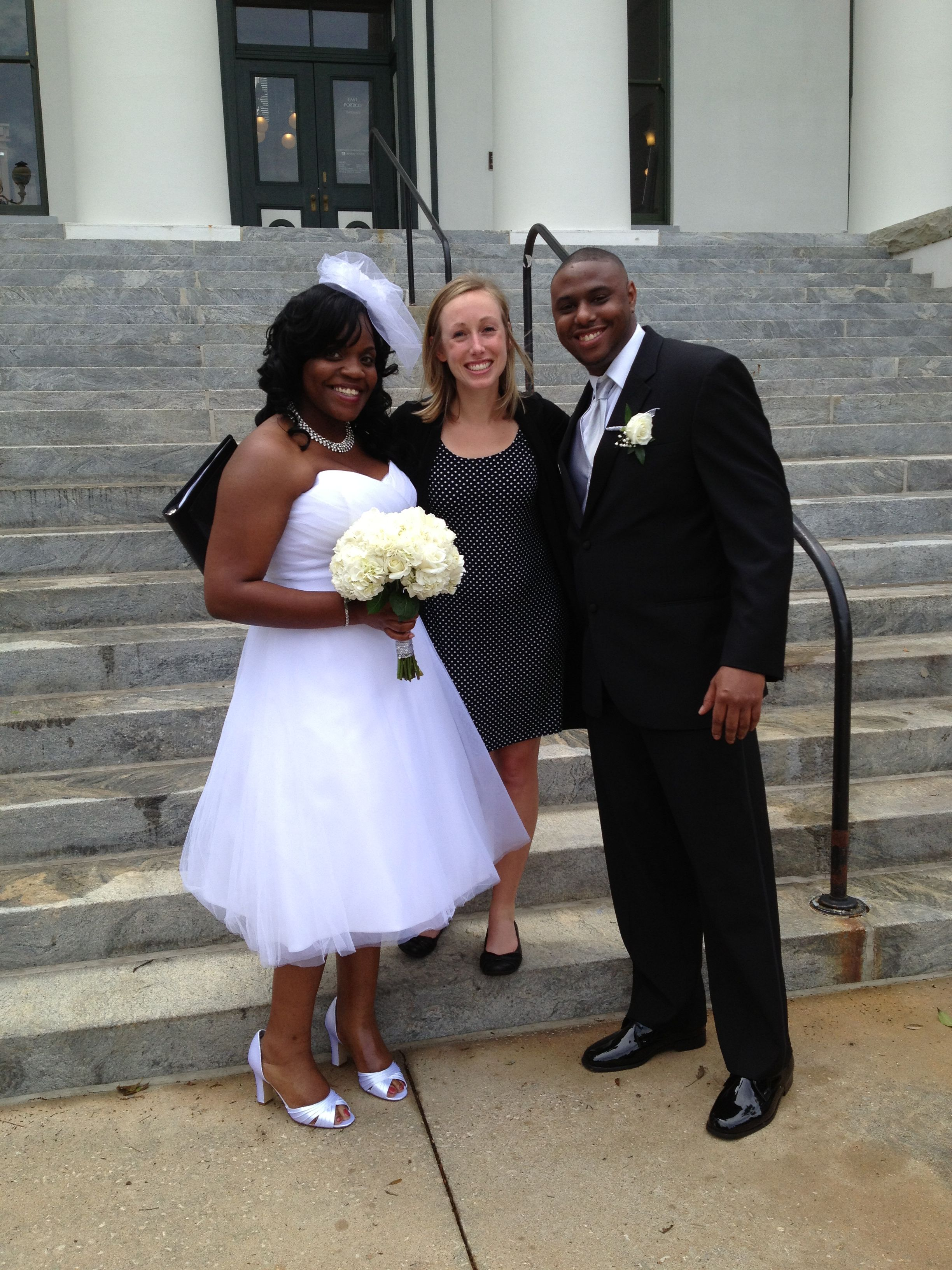 Florida State Capital Wedding, Wedding on the steps of the