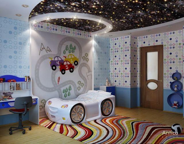 bedroom ceiling designs. I like the stars! | Kids bedroom ...