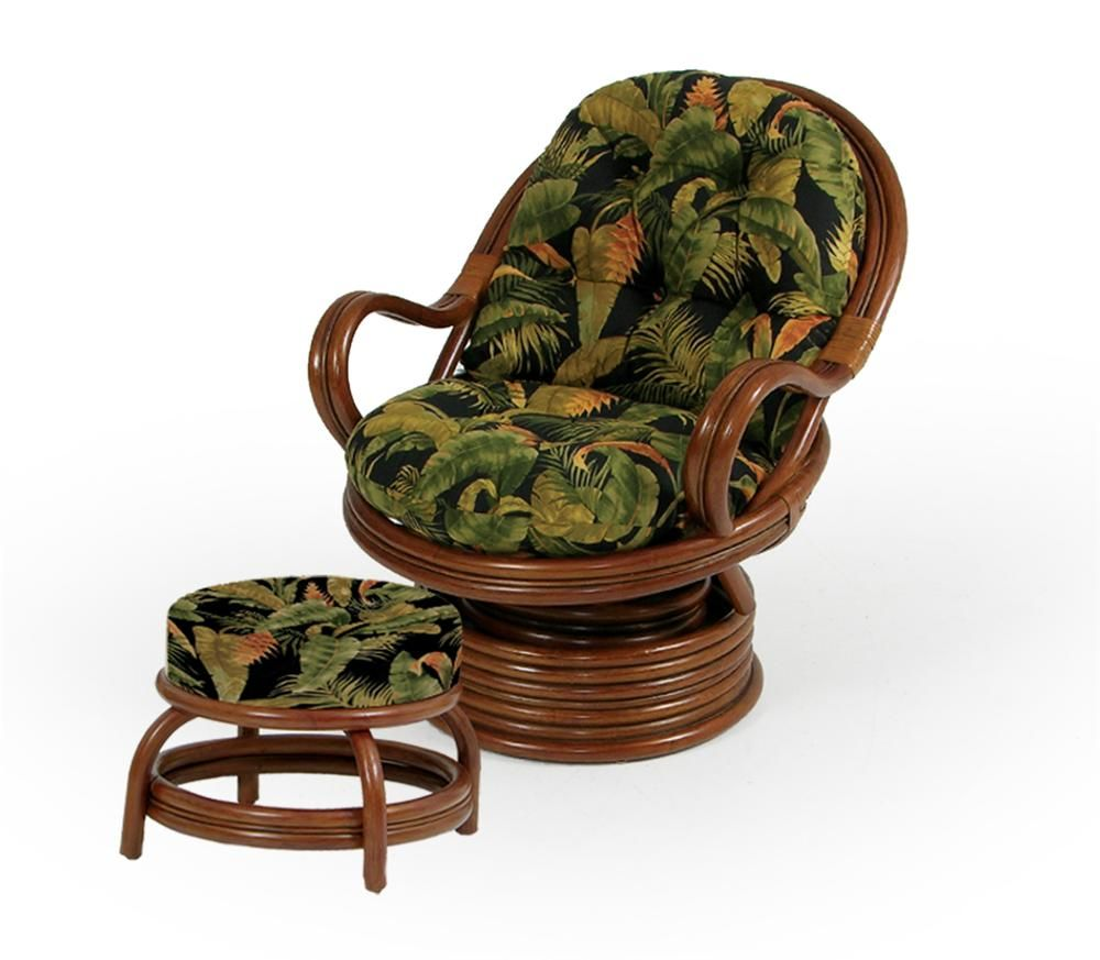 Palm Springs Rattan Islamorada Swivel Rocker Chair And