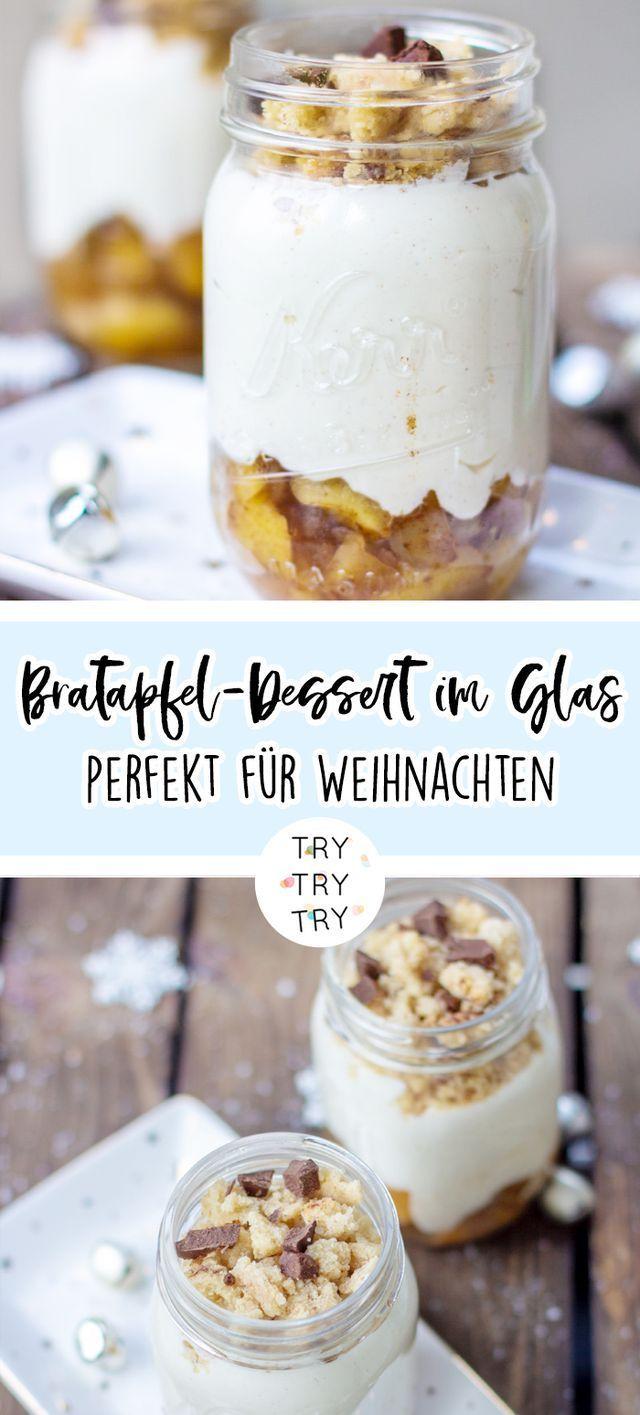 Bratapfel-Dessert im Glas