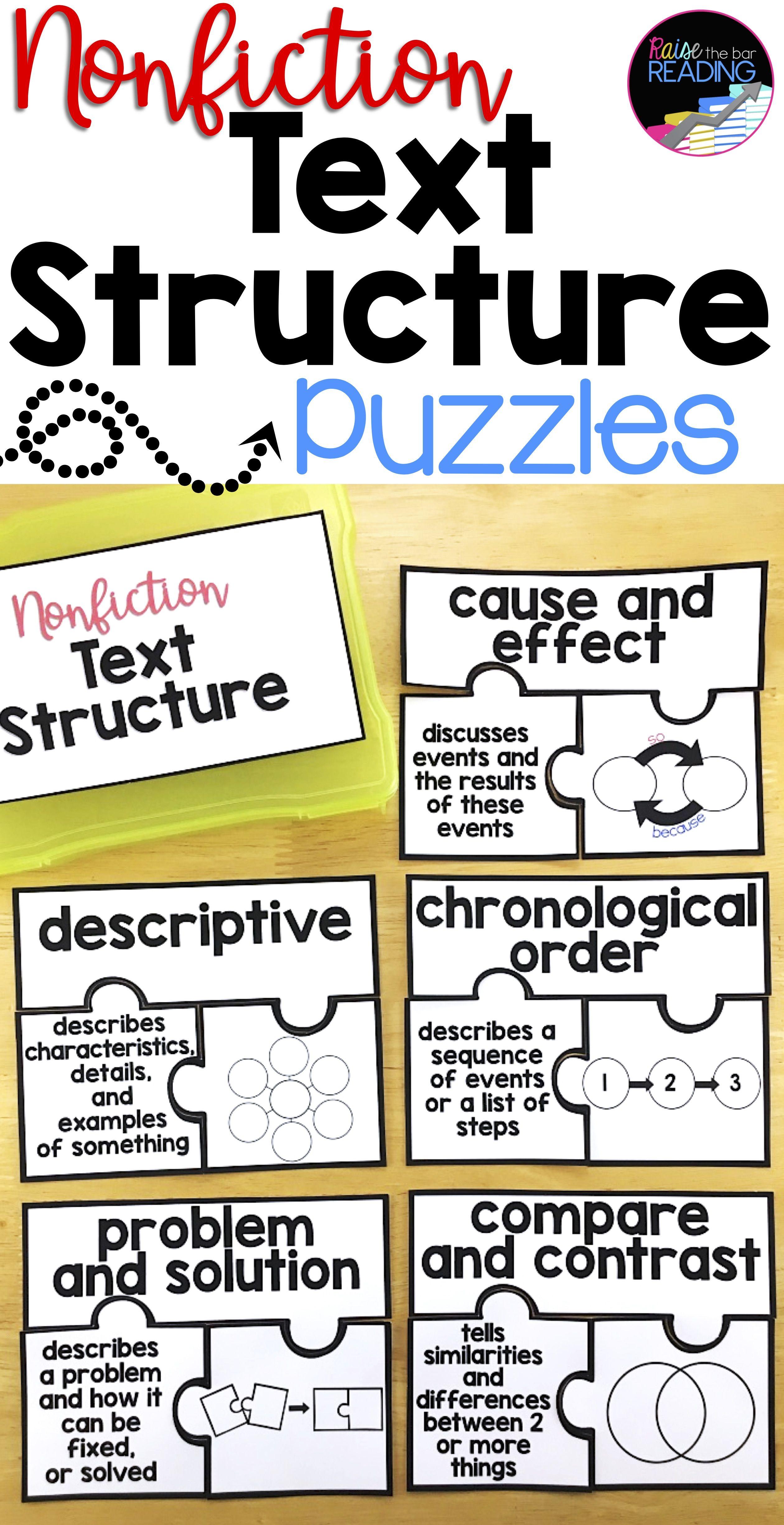 Nonfiction Text Structure Activity