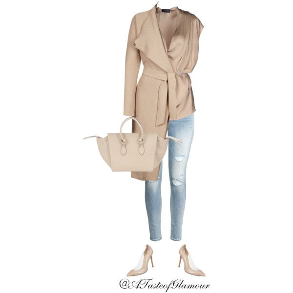 Untitled by leilaallaf on Polyvore featuring polyvore, fashion, style, Lanvin, Filippa K, H&M, Gianvito Rossi and CÉLINE