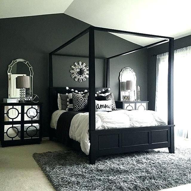 dark bedroom aesthetic Google Search | Black bedroom decor ...