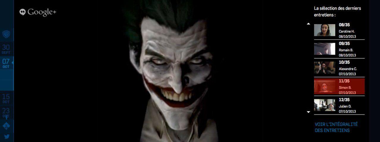Batman arkham origins get a job interview with the joker via batman arkham origins get a job interview with the joker via google hangouts on vimeo voltagebd Gallery