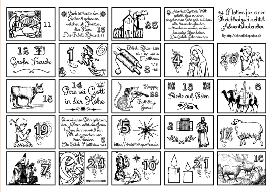 Mini Adventskalender Mit Vorlage Mit Strich Und Faden