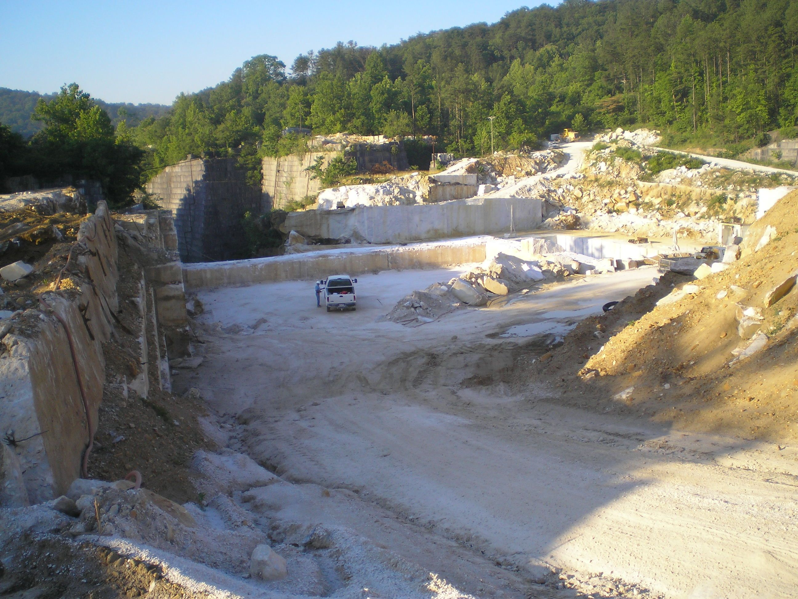 Entrance To The Georgia Marble Quarry Stone Quarry Outdoor American Continent