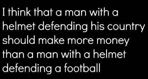 NOT a recipe, but lots of people are thinking about football this time of year and we need to remember our guys defending our country...true!